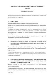 protokoll for ekstraordinær generalforsamling 8. juni ... - Aker Solutions