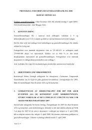PROTOKOLL FOR ORDINÆR ... - Aker Solutions