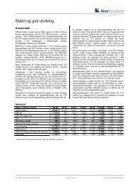 Stabil og god utvikling - Aker Solutions