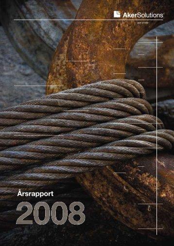 Årsrapport 2008 - Aker Solutions