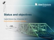 Status and objectives - Aker Solutions