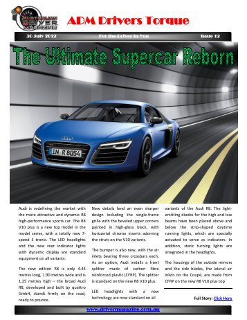 ADM Drivers Torque Issue 12 - Australian Driver Magazine