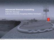 Advanced thermal modelling Ludivine Le Granvalet - Aker Solutions