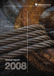 Annual report 2008 - Aker Solutions