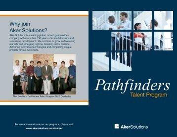 Pathfinders Talent Program Brochure - Aker Solutions