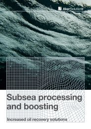 Subsea processing and boosting - Aker Solutions