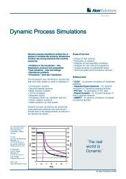 Dynamic Process Simulations Factsheet Aker Solutions