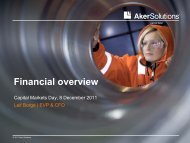 Financial overview - Aker Solutions