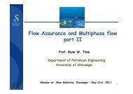 Flow Assurance and Multiphase flow - part 2 By Prof ... - Aker Solutions