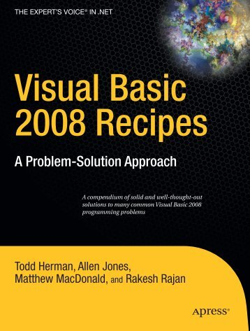 Visual Basic 2008 Recipes - Online Public Access Catalog