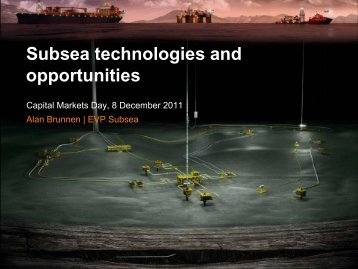 Subsea technologies and opportunities - Aker Solutions