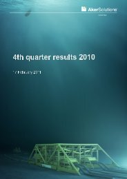 4th quarter results 2010 Report - Aker Solutions