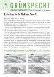 Startschuss für die Stadt der Zukunft? - Die Grünen Leopoldstadt