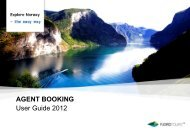 AGENT BOOKING User Guide 2012 - Fjord Tours