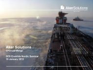 Portfolio of products and services - Aker Solutions