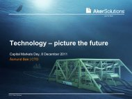 Technology – picture the future - Aker Solutions