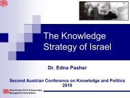 The Knowledge Strategy of Israel - Agenda Wissen