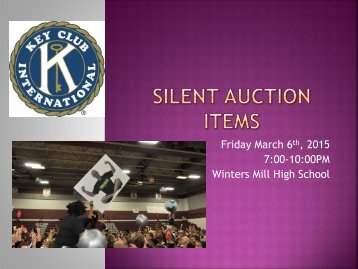 Silent Auction Items Powerpoint
