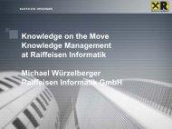 Knowledge on the move at Raiffeisen Informatik - Agenda Wissen