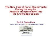 "The New Club of Paris"" Round Table: Paving the ... - Agenda Wissen"
