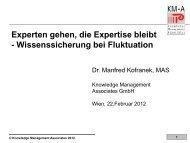 Experten gehen die Expertise bleibt_Kofranek ... - Agenda Wissen