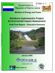 Completion of the Bumbuna Hydroelectric Project - ecowrex