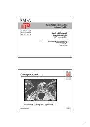 Knowledge work and its - Agenda Wissen