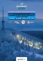 NC SLALOM RACE AND ZAGREB COUNTY FIS SLALOM RACE ...
