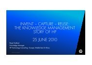capture - reuse: the Knowledge Management story ... - Agenda Wissen