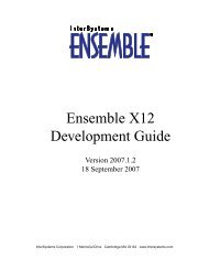Ensemble X12 Development Guide - InterSystems Documentation