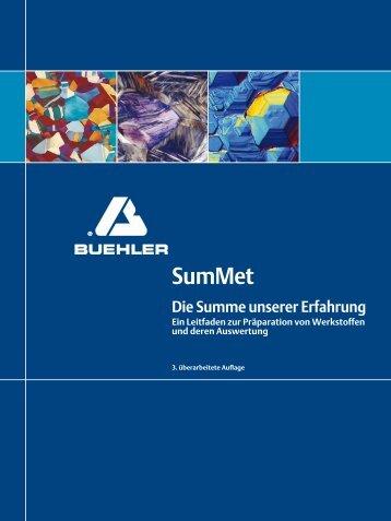 """Buch """"SumMet"""" - Buehler GmbH"""