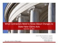 What Contractors Need to Know About Changes to State False ...