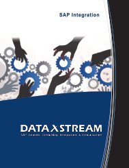 SAP Integration Brochure - DataXstream