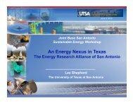 An Energy Nexus in Texas --- The San Antonio