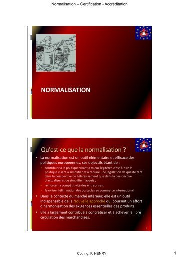 Normalisation - Prevention-incendie.be