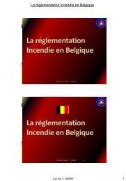 04. La réglementation incendie en Belgique - Prévention incendie