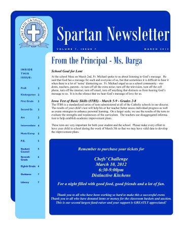 From the Principal - Ms. Darga - St. Paul Catholic Church