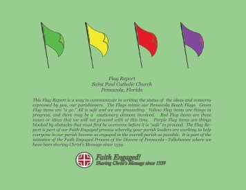 Flag Report April 2012 - St. Paul Catholic Church