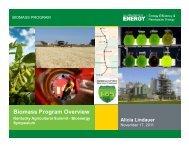 Biomass Program Overview - Department for Energy Development ...