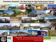 Passivhaus Standard: The Next Step for High Performance Schools