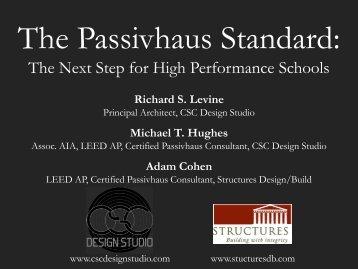 The Passivhaus Standard: Part 1