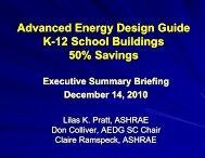 Advanced Energy Design Guide for K-12 School Buildings - ashrae