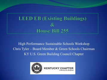 LEED for Existing Buildings - Department for Energy Development ...