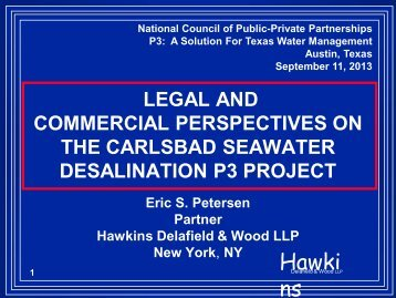 Eric Petersen, Hawkins Delafield & Wood - The National Council for ...