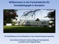 Folie 1 - Fachakademie für Sozialpädagogik Kempten