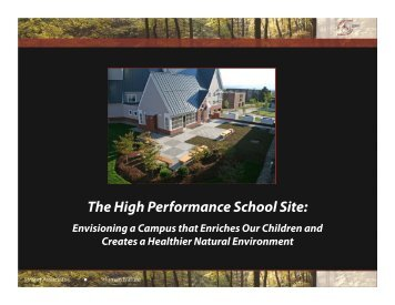The High Performance School Site: