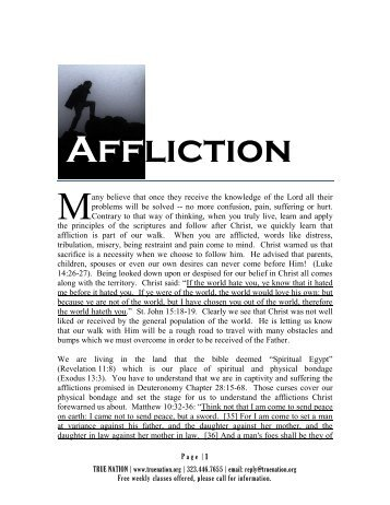 Going Through Affliction - True Nation