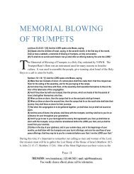 MEMORIAL BLOWING OF TRUMPETS - True Nation