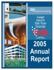 Annual Report 2005 - The National Council for Public-Private ...