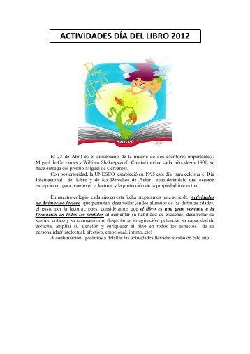 ACTIVIDADES DÍA DEL LIBRO 2012 - CEIP MARQUÉS DEL ARCO